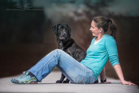Ami Labrador und Sandra