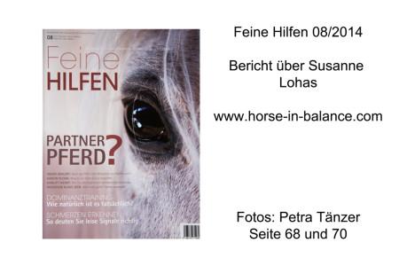 Zeitschrift Feine Hilfen Ausgabe 8 2014